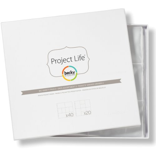 Project Life by Becky Higgins 380002 Project Life Photo Pocket Page Protector-12 x 12-Big Variety 2 (60 Piece)
