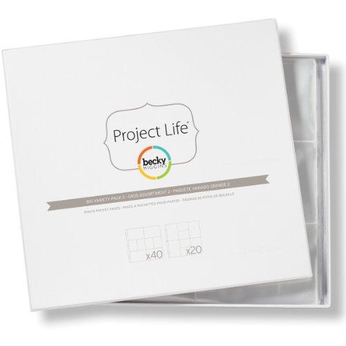 American Crafts Pack De 60 Fundas Protectoras Variadas Project Life Paquete 2