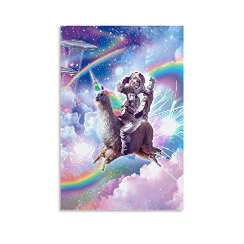 Animal Starry Sky Astronaut Sloth Llama Art Poster Canvas Art Poster and Wall Art Picture Print Modern Family Bedroom Decor Posters 12x18inch(30x45cm)