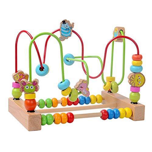 Xyanzi Bébé Jouets Jouets Éducatifs pour Enfants, 1-2 Ans Bébé Précoce Éducation Roller Coaster Perles Rondes Jouets Éducatifs pour Tout-Petits (Couleur : Ocean Around The Bead)