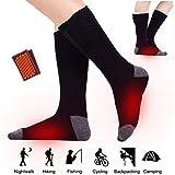 Lixada Chaussettes Chauffantes électriques, Batterie Rechargeable, Coton épais, Chaussettes Thermiques pour Femmes/Hommes, Chaussettes Chaudes pour Moto/vélo/Chasse/Ski