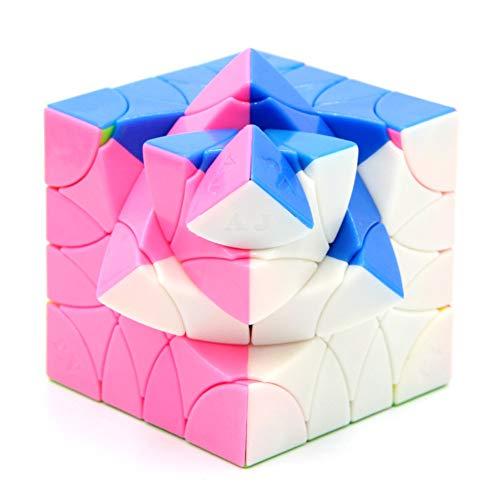 Speed Cube, 4x4x4 Window Grille Corner Corner Difícil Magia Creativo Irregular Speed Cube Puzzle Profesional Match Cube Brain Teaser Juguete Educativo