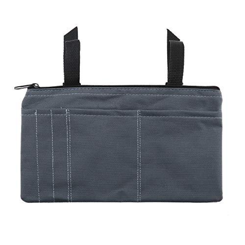 Schwarz Rollstuhlseitige Mobilität Roller Armlehne Tasche Gehhilfe Zubehör Leichte Tasche Organizer 26x15,5 cm IP64 600D Oxford Stoff