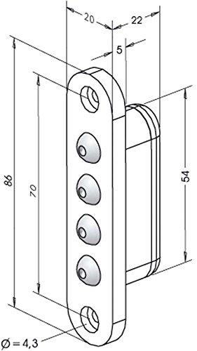 Stromübertrager 10259, 4-polig, Kontaktstifte hartvergoldet (korrossionsfrei) ; 1 Stück