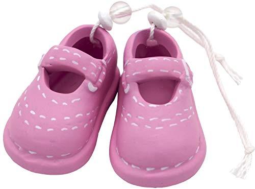 Unbekannt Babyschuhe Rosa Tortenaufsatz Mädchen Taufe Tischdeko Keramik Deko