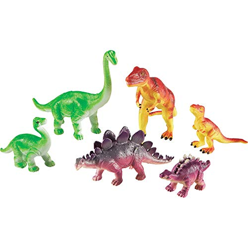 Learning Resources Jumbo Dinosaurs I Mommas and Babies I T-Rex  Stegosaurus  and Brachiosaurus  6 Animals