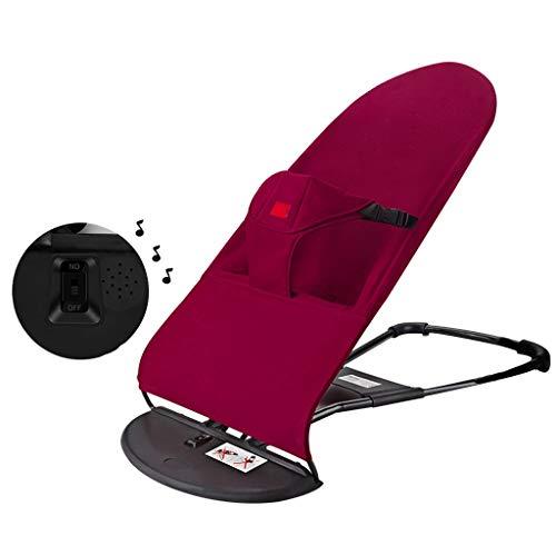 Balancelle pour Bébé Balance Doux Coton Bouncer Naturel Rocking Ergonomique Design Chaise Confort Enfants Développe L'équilibre et La Motricité for 0-2 Ans (Color : Red 1, Size : B)