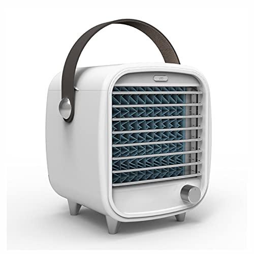 Mini-Luftkühler 3 in 1 tragbarer Mini-Klimaanlage Luft-Lüfter-Luftbefeuchter, Reiniger mit LED-Leuchten USB-Wiederaufladbare Mobile Klimaanlage für Home Office