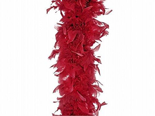 LCN Boa Echarpe Plume Deguisement Carnaval Synthetique 180cm Bordeaux - 842