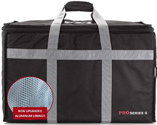 "Insulated Commercial Food Delivery Bag - Professional Hot/Cold Thermal Carrier - Large (23"" x 14"" x 15""), Lightweight & Portable for Catering, Grocery Shopping or Parties & Holidays"