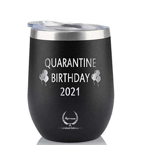 Quarantine Birthday 2021 Wine Tumbler