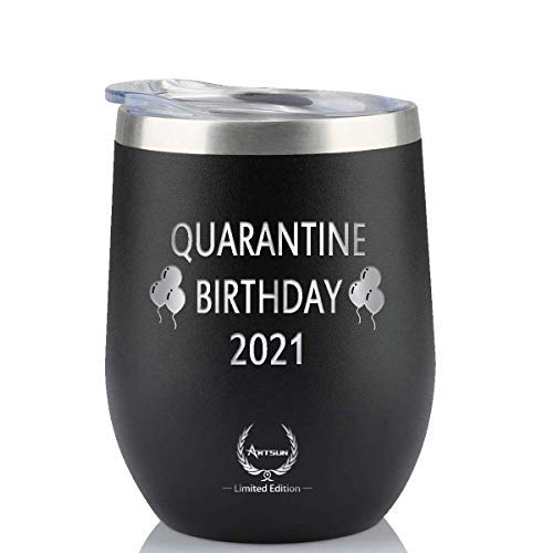 Quarantine Birthday 2021 Wine Tumbler