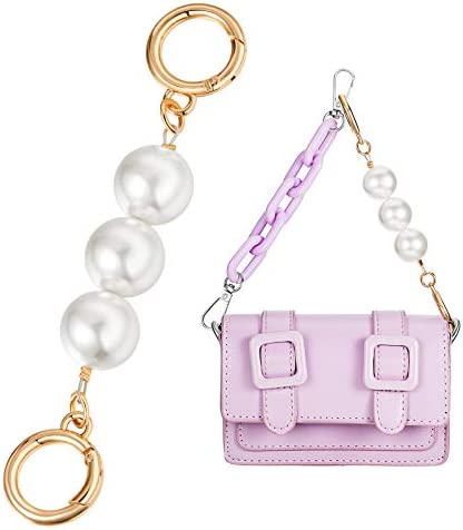 Golden Pearl Chain Strap Extender Imitation Pearl Wallet Replacement Chain Strap Handbag Messenger product image