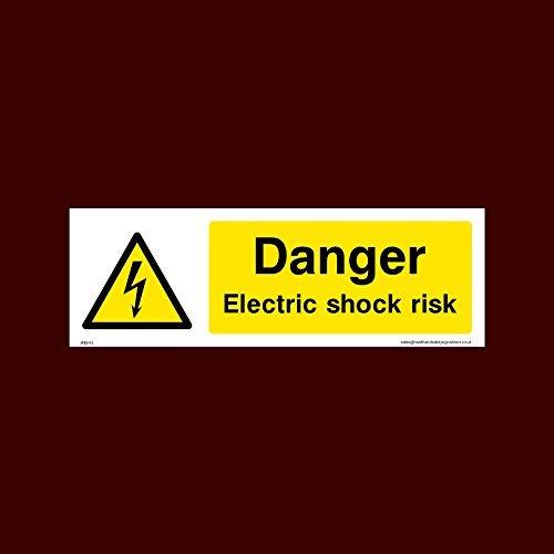 Señal de advertencia de peligro eléctrico de riesgo de choque (Weh14) calcomanías...