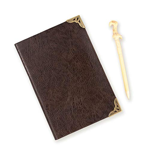 HARRY POTTER Tom Riddle's Notebook & Voldemort's Wand Pen Set | 192 Blank Pages
