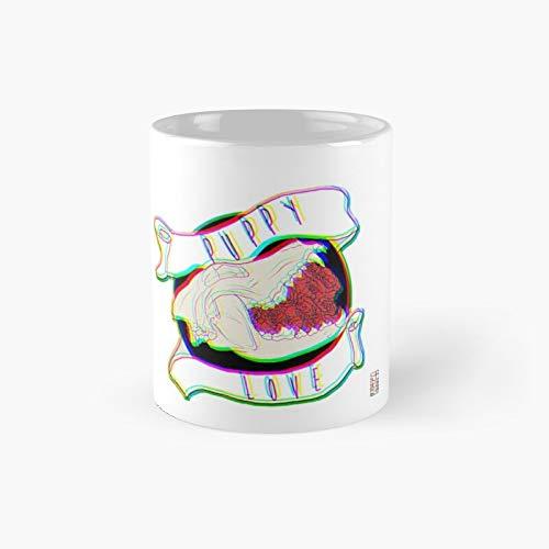 Puppy Love Classic Mug   Best Gift Funny Coffee Mugs 11 Oz