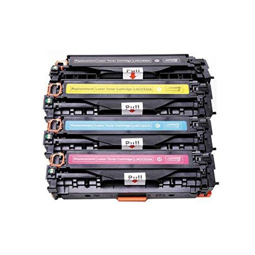 Cartuccia toner compatibile HP 304A CC530A CP2020/CP2025/CM2320 cartucce toner adatte per HP Color Laserjet CP2020/CP2025/CM2320, set di 4 colori size 4 colori