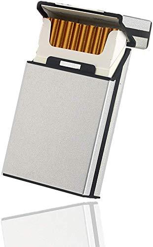 Tenfel シガレットケース 100mm スリム タバコ 20本収納 アルミ タバコケース 軽量 葉巻保護カバー 夏場 汗 対策