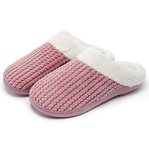 38/ Rosa /39 Shuda 1/Paio Pantofole di Cotone pantoufle a casa Pantofole Calda Invernali Due Misure per i Scelta 38-39 Rosa 38-39