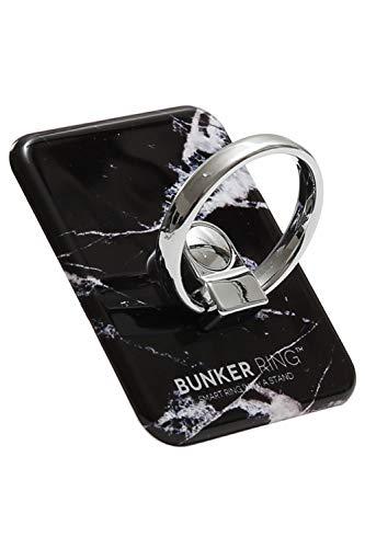 BUNKER RING 3 バンカーリング マーブル 大理石デザイン スマホリング [ブラック]