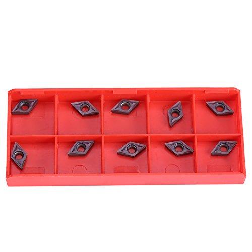 10pcs Insertos de Carburo de Diamante CNC Cortador de Insertos Cuchillos de Inserción de Máquina de Torno Fresado DCMT070202 para Acero Semielaborado