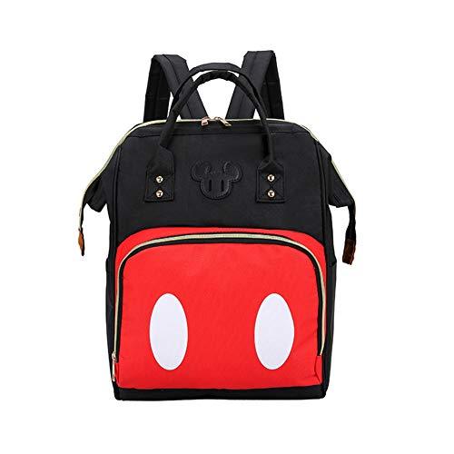 Exttlliy Baby Diaper Bag Backpack, Large Capacity Waterproof Multi-Function Fashion Polka Dots Travel Bag Pack, Nursing Bag (B)