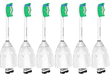 Aoremon Replacement Toothbrush Heads for Philips Sonicare E-Series HX7022/66 6pack Fit Sonicare Essence Xtreme Elite Advance and CleanCare Electric Toothbrush with Hygienic Cap