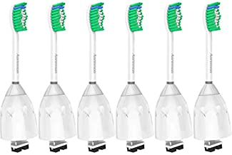 Aoremon Replacement Toothbrush Heads for Philips Sonicare E-Series HX7022/66, 6pack, Fit Sonicare Essence, Xtreme, Elite, Advance, and CleanCare Electric Toothbrush with Hygienic Cap