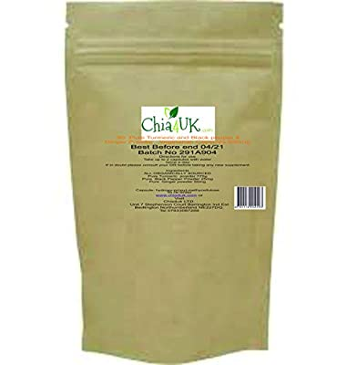 Turmeric & Black Pepper & Ginger Capsules   Chia4uk Ltd  HIGH STRENGTH 650mg  240 Veg capsules 2 x 120 Bottles   Made In the UK  Great For Joint Pain and Arthritis Relief by Chia4uk Ltd