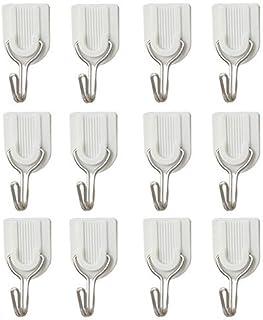 super1798 12 Stks Plastic Zelfklevende Badkamer Keuken Stok Op Muur Deur Handdoek Houder Haak Hanger