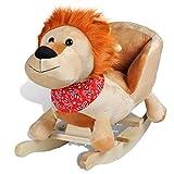 vidaXL Lion à Bascule pour Bébés Peluche Animaux à Bascule Jouet d'Enfant