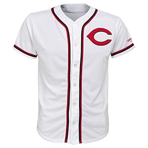 Outerstuff Cincinnati Red's White Youth Team Apparel Home Jersey (Large 12/14)