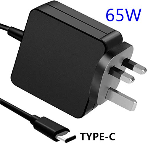 65W USB C PD Wall Charger Adapter for Dell/HP/Lenovo/Thinkpad/ASUS/Acer/MacBook Pro 12,13 Inch/Nintendo Switch 65W USB Type-C Adapter, and most of Type-C enabled laptop, smartphone and tablet