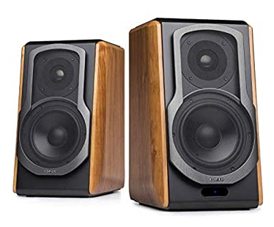 Edifier S1000DB Brown Active Audiophile Bookshelf Studio Speakers with Bluetooth aptX & Multiple Input Connections by Edifier