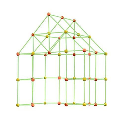 Sweety Kits de construcción Fort Building Kit Construye tu Propia construcción Juguete Plastic DIY Den Kit Castle Ingeniería Educativa Aprendizaje Juguetes para niños Niñas Edad 6 +