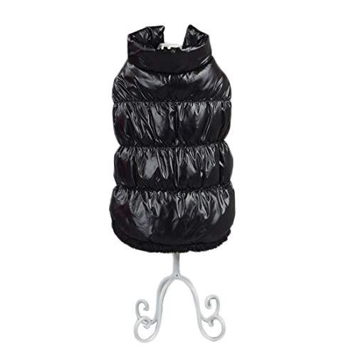 Outdoor gewatteerde jas voor kleine en middelgrote honden puppy vest verdikt vest fleece huisdieren kleding winterjas honden gilet warm gewatteerde vest dog coat, Medium, zwart