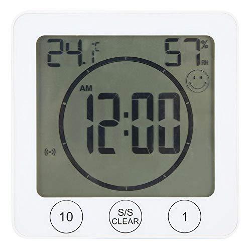 Multifunctionele binnenthermometer Hygrometer Digitale klok voor thuis Badkamer Keukenthermometer