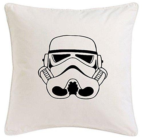 Reifen-Markt Kissenbezug 40x40cm Stormtrooper Star Wars Jedi Joda Luke Darth Vader aus Mikrofaser geschmackvolle Dekoration für jedes Wohnzimmer oder Schlafzimmer