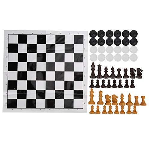 01 Juego de ajedrez Internacional, Juego de ajedrez de Viaje portátil y liviano, fácil de Llevar, Mini ajedrez Internacional, Mano de Obra Fina, Juego de ajedrez niños