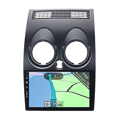 YUNTX PX6 Android 10 2 Din Autoradio adatto per Nissan Qashqai J10(2008-2014) - 4G+64G - Gratuita Telecamera Posteriore - 9 pollici -Support DAB/Controllo del Volante/WiFi/Bluetooth/Mirrorlink/Carplay