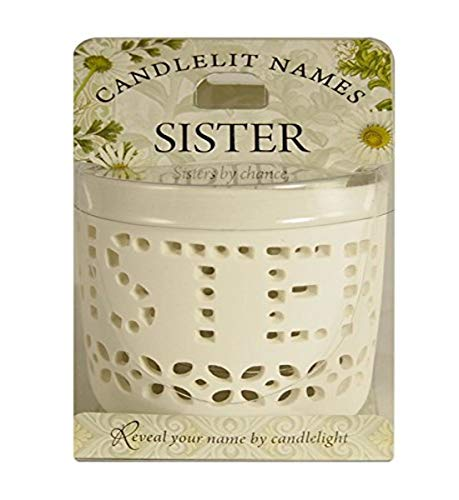 Candlelit Names Sister, 2.5 x 2.75 inches