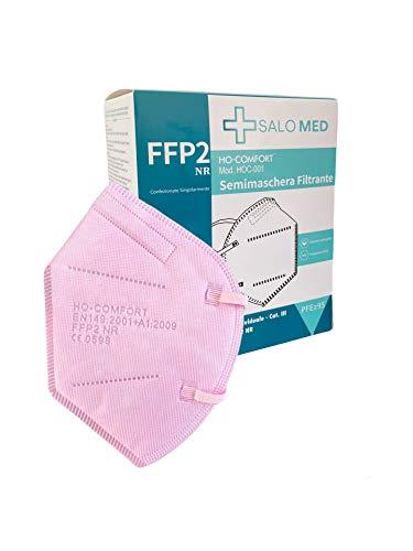 SALO MED 20x MASCHERINE FFP2 ROSA - CERTIFICATE CE 0598 - BOX 20 pz