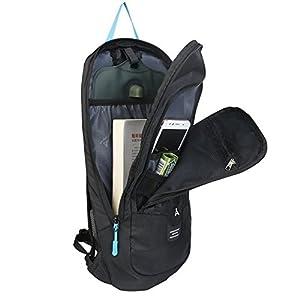 10L Mochilas de Hidratacion Ciclismo al Aire Libre de Unisex Multifuncional Impermeable de Poliester Para Viaje (negro)
