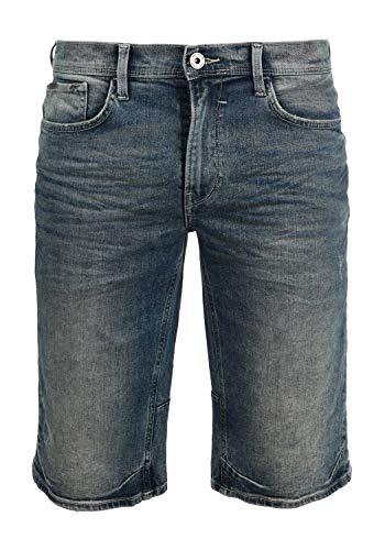 Blend Denon Herren Jeans Shorts Kurze Denim Hose Aus Stretch-Material Regular Fit, Größe:S, Farbe:Denim middleblue (76201)