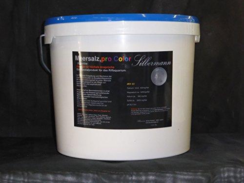 Silbermann Meersalz pro Color, 5,5 KH für Meerwasseraquarium, Riffaquarium, in verschiedenen Größen (20 kg Eimer)
