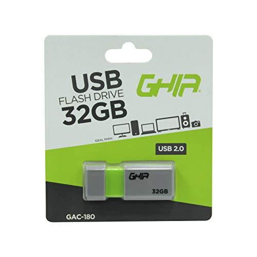 Ghia Memoria USB plastica de 32 GB, USB 2.0 compatible con Andorid/Windows/MAC