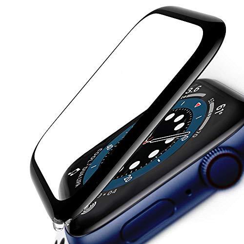 FANIER - Protector de pantalla para Apple Watch de 40 mm Series 6/5/4/SE, 3D, película protectora de cristal templado para iWatch 40 mm Series 6/5/4/SE (2 unidades)