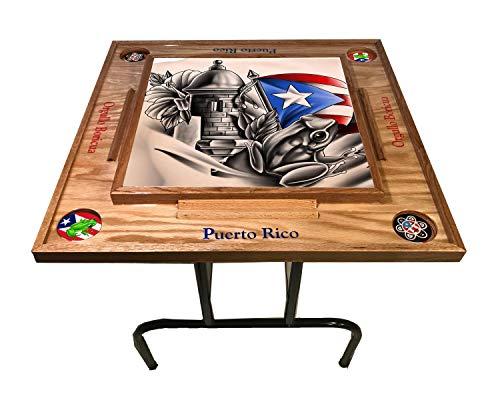 Fantastic Prices! latinos r us Puerto Rico Domino Table Símbolos Bóricua (Red Mahogany)