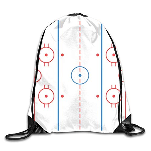 Drawstring Bag Rucksack Drawstring Backpack Hockey Rink Cutting Board for Picnic Gym Sport Beach Yoga Drawstring Sackpack Bag 36X43CM