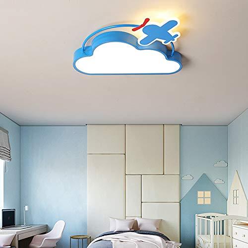 ELEYHO Creativo Luces De Techo De Dormitorio Infantil Lámpara De Techo De Dibujos Animados con Avión Diseñado Super Brillante para La Decoración del Hogar De Regalo para Niños,Warm,50cm
